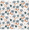 bold abstract seamless pattern with flowers and vector image