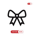 bow icon vector image vector image