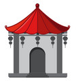 building in chinese style with red roof vector image vector image