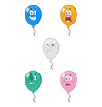 colorful balloons cartoon character 02 collection vector image vector image