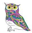 Colorful painted owl vector image