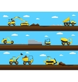 Construction process Bulldozer truck and vector image vector image