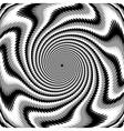 Design monochrome swirl rotation background vector image vector image