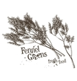 dill fennel logo design template fresh vector image vector image