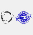 dot collaboration icon and scratched good vector image vector image