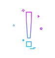 elimination alert icon design vector image
