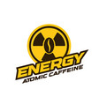 energy drink logo modern concept atomic caffeine vector image