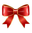 festive red bows and ribbons decor for boxes vector image vector image