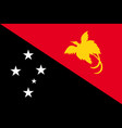 flag of papua new guinea vector image vector image