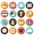 flat round business and marketing web icons set vector image vector image