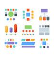 flowchart elements infographic templates business vector image