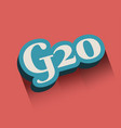 g and 20 letter and number vector image
