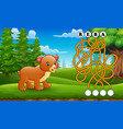 game bear maze find way to the word vector image vector image