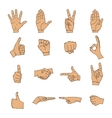 Hand icon silhouette collection vector image vector image