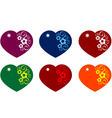 Heart gift tags vector image