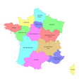 high quality colorful labeled map france with vector image