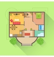 House Floor Interior Design Project View From vector image