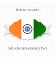india independence day paper label vector image