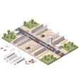 isometric border checkpoint vector image vector image