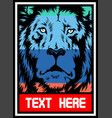 lion full color vector image