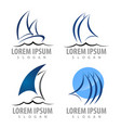 logo concept design sailboat set symbol graphic vector image