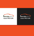 logo of electro car in colorful style vector image vector image