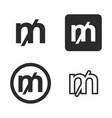 mill currency symbol set vector image