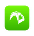 new tent icon green vector image vector image