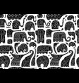 ornate elephants seamless pattern for your design vector image vector image
