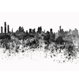 Panama City skyline in black watercolor on white vector image vector image