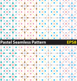 Pastel seamless pattern vector image vector image