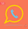 phone icon contacts call center sign vector image