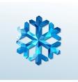 polygonal christmas snowflake vector image vector image