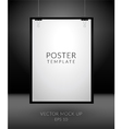 Poster template on dark background vector image