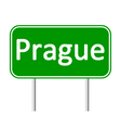 Prague road sign vector image vector image