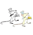 rat cook with cheese vector image vector image