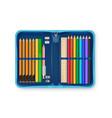 realistic pencil case vector image