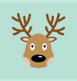 reindeer christmas icon vector image vector image