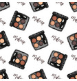 seamless pattern sketch set makeup products vector image vector image
