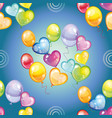 seamless pattern with colorful balloons on blue vector image vector image