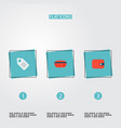 set of store icons flat style symbols with wallet vector image