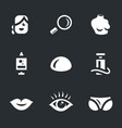 set plastic surgery icons vector image