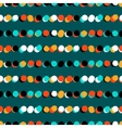 Simple striped geometric pattern with dots vector image