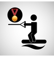 skate water medal sport extreme graphic vector image