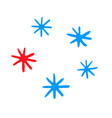 snowflake set snow on a transparent background vector image vector image