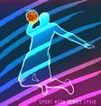Sport neon series basketball vector image