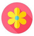 Spring Flower Circle Icon vector image vector image
