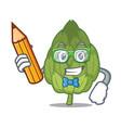 student artichoke character cartoon style vector image