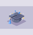 student hat icon creative higher vector image