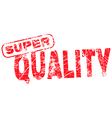 Super Quality red grunge rubber stamp vector image vector image